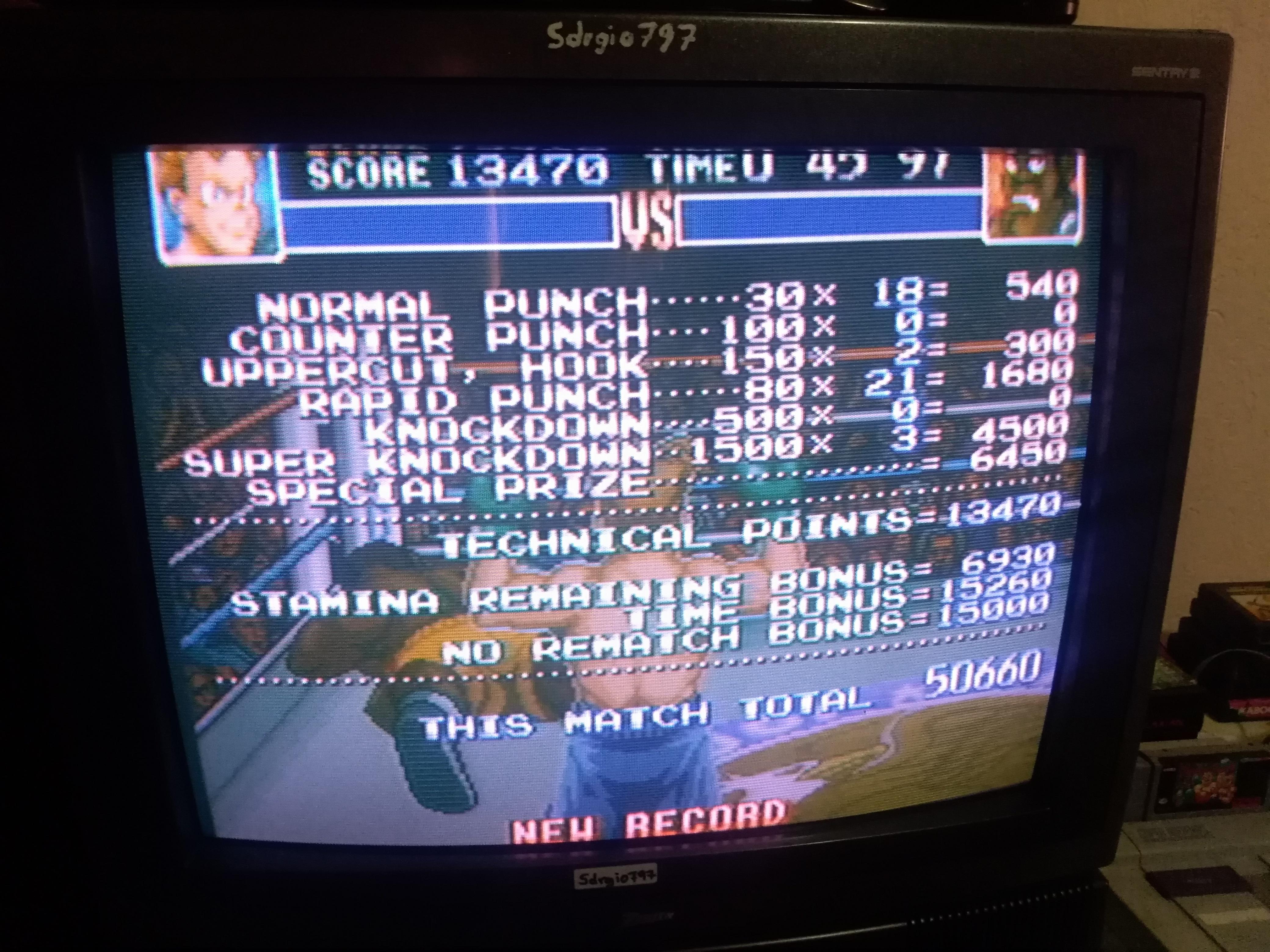 Sdrgio797: Super Punch-Out!! [Mr. Sandman] (SNES/Super Famicom) 50,660 points on 2020-07-06 15:06:11