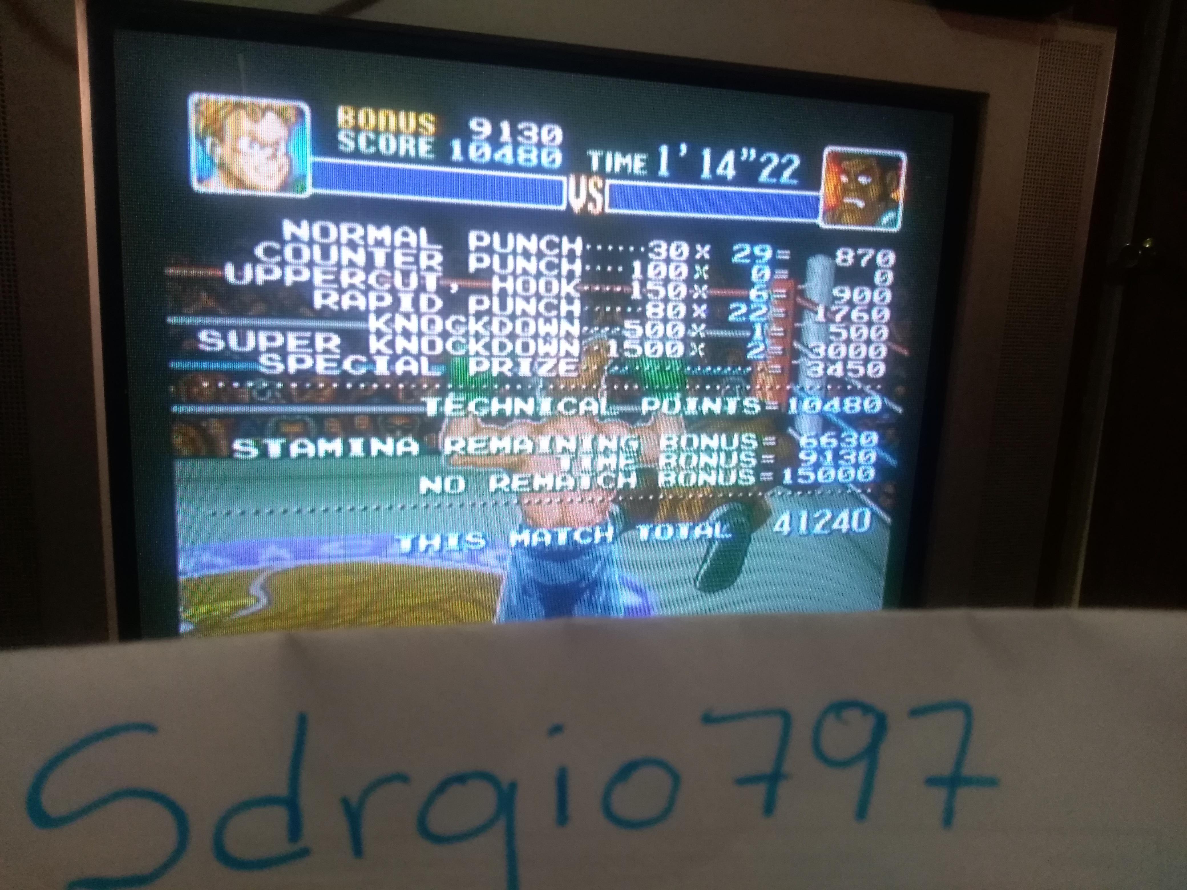 Super Punch-Out!! [Mr. Sandman] 41,240 points