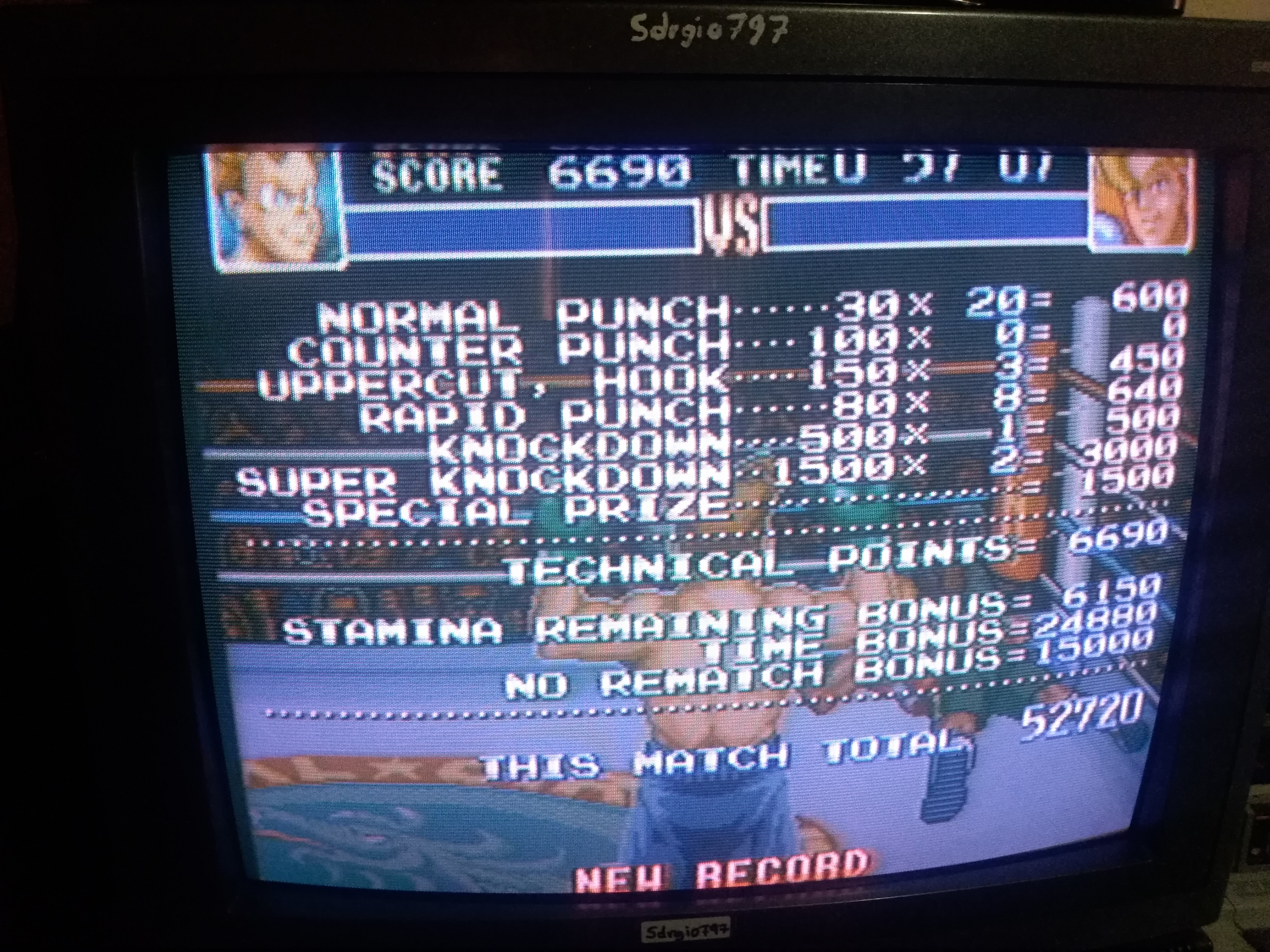 Sdrgio797: Super Punch-Out!! [Narcis Prince] (SNES/Super Famicom) 52,720 points on 2020-07-06 15:30:33