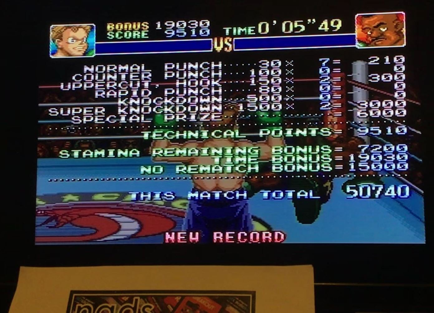 nads: Super Punch-Out!! [Piston Hurricane] (SNES/Super Famicom) 50,740 points on 2019-07-01 05:56:04