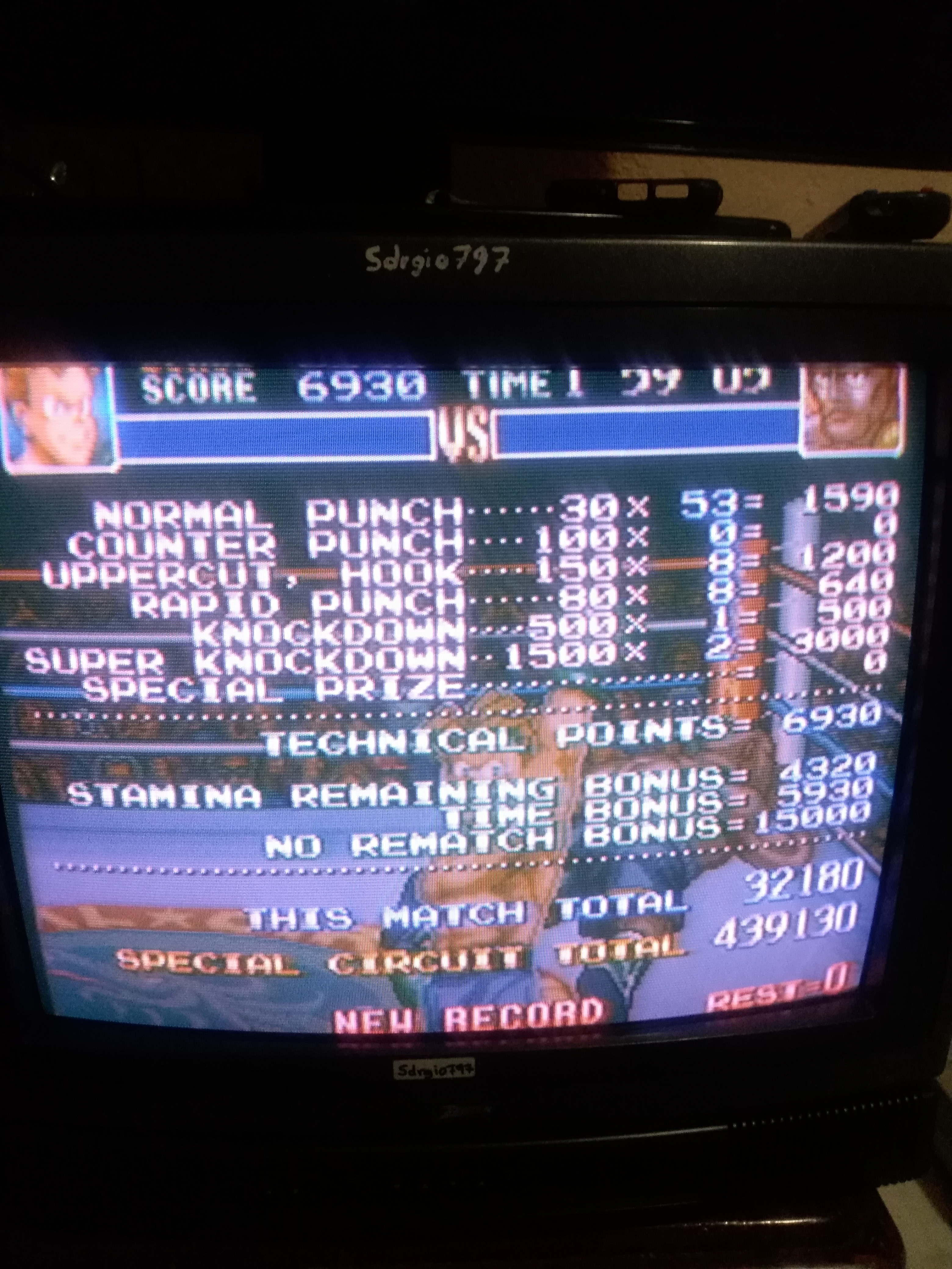 Sdrgio797: Super Punch-Out!! [Special Circuit] (SNES/Super Famicom) 439,130 points on 2020-07-07 00:02:36