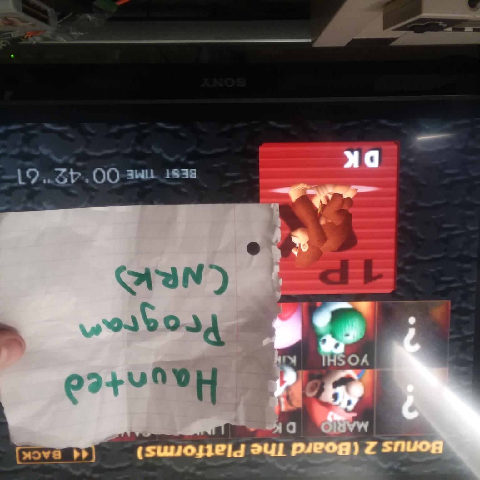 Super Smash Bros. [Board The Platforms: Donkey Kong] time of 0:00:42.61