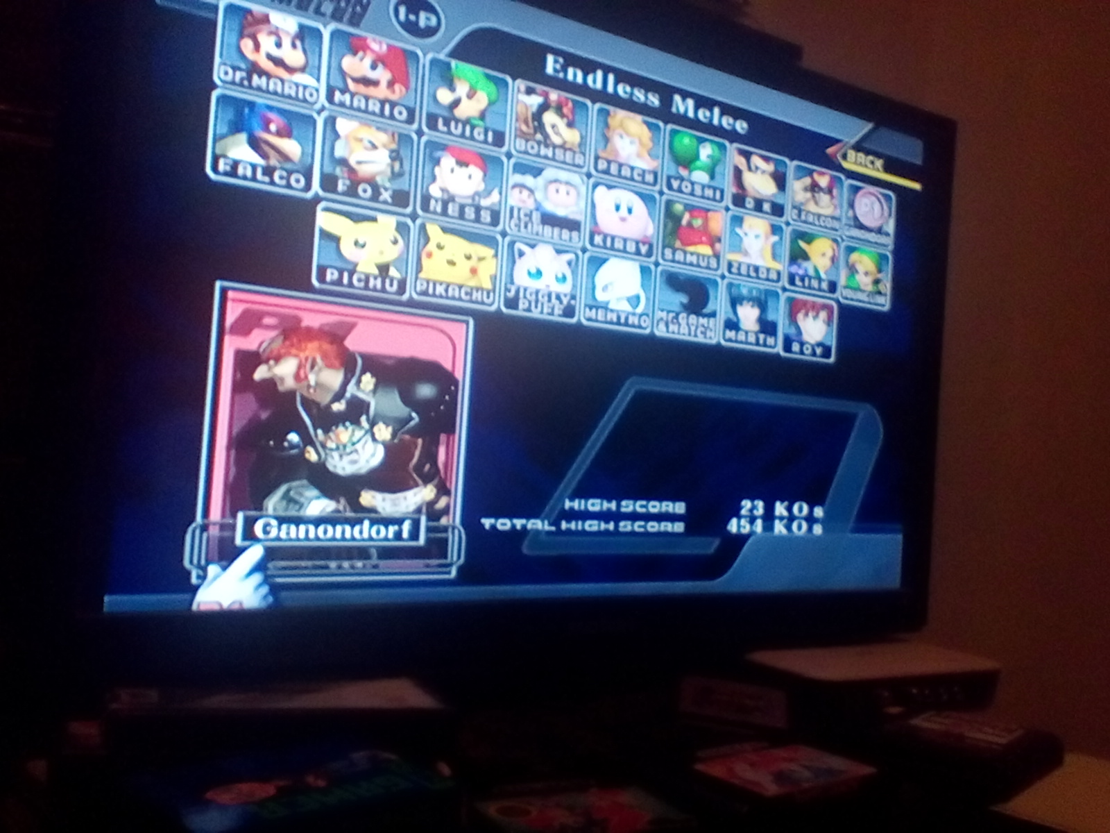 DrJoshDaReagamer22G: Super Smash Bros. Melee: Endless Melee: Ganondorf (GameCube) 23 points on 2019-02-17 21:30:53