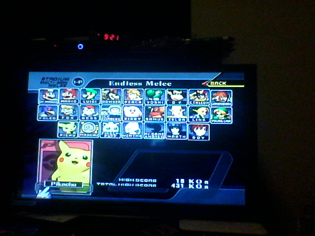 DrJoshDaReagamer22G: Super Smash Bros. Melee: Endless Melee: Pikachu (GameCube) 18 points on 2019-02-17 21:26:10