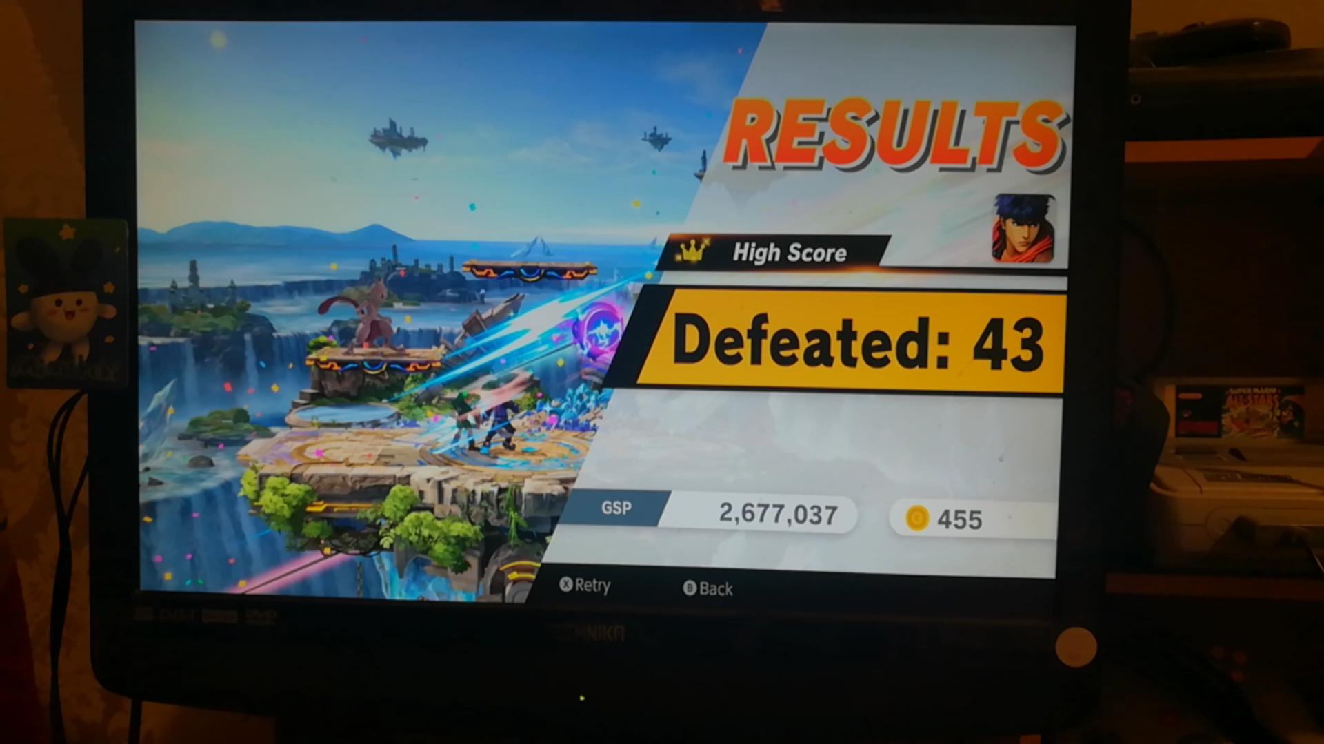 Mimitchi: Super Smash Bros. Ultimate: All-Star Smash: Ike (Nintendo Switch) 43 points on 2020-05-29 08:12:16