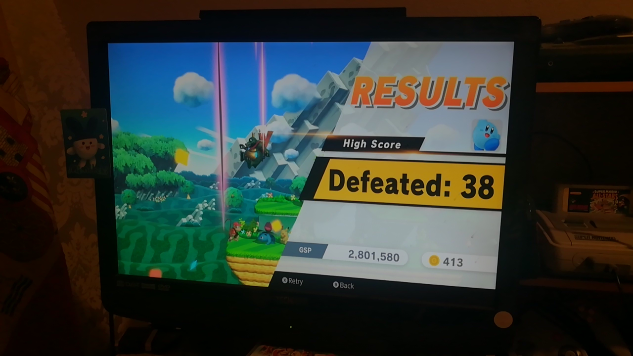 Mimitchi: Super Smash Bros. Ultimate: All-Star Smash: Kirby (Nintendo Switch) 38 points on 2020-05-31 13:16:50