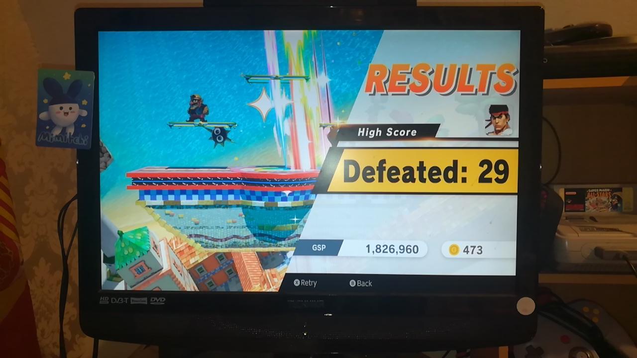 Mimitchi: Super Smash Bros. Ultimate: All-Star Smash: Ryu (Nintendo Switch) 29 points on 2020-05-29 08:06:50