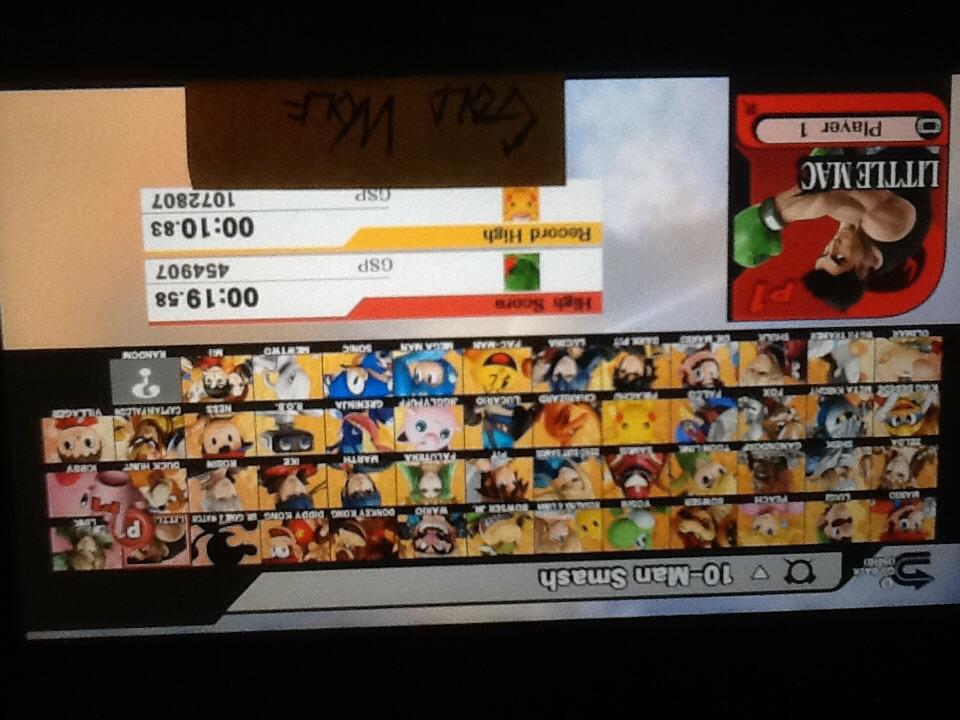 Super Smash Bros. for Wii U: 10-Man Smash: Little Mac time of 0:00:19.58