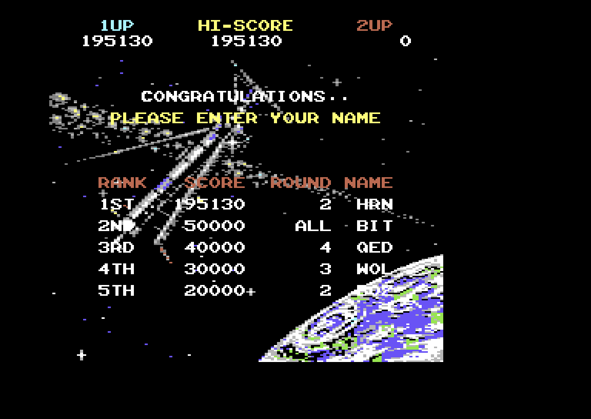 Hyeron: Super Space Invaders (Commodore 64 Emulated) 195,130 points on 2019-06-30 13:55:37