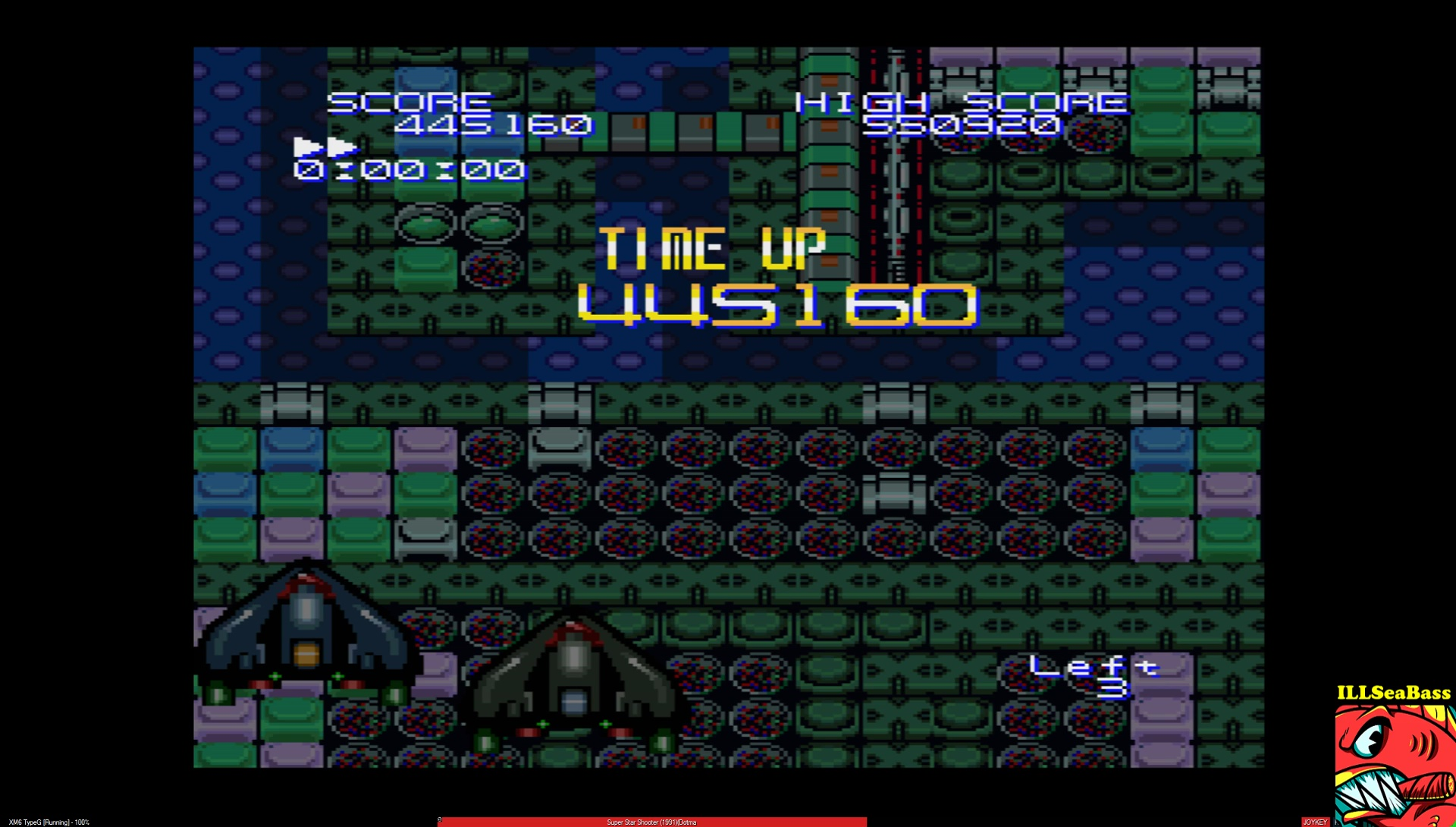 ILLSeaBass: Super Star Shooter: Version 1.00 [2 Minutes Game] (Sharp X68000 Emulated) 445,160 points on 2017-03-01 23:36:16