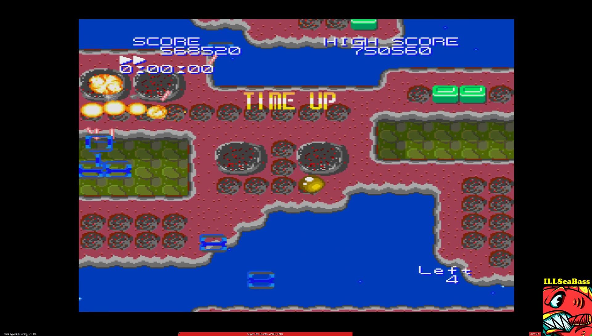 ILLSeaBass: Super Star Shooter: Version 2.00 [2 Minutes Game] (Sharp X68000 Emulated) 568,520 points on 2017-02-28 22:35:23