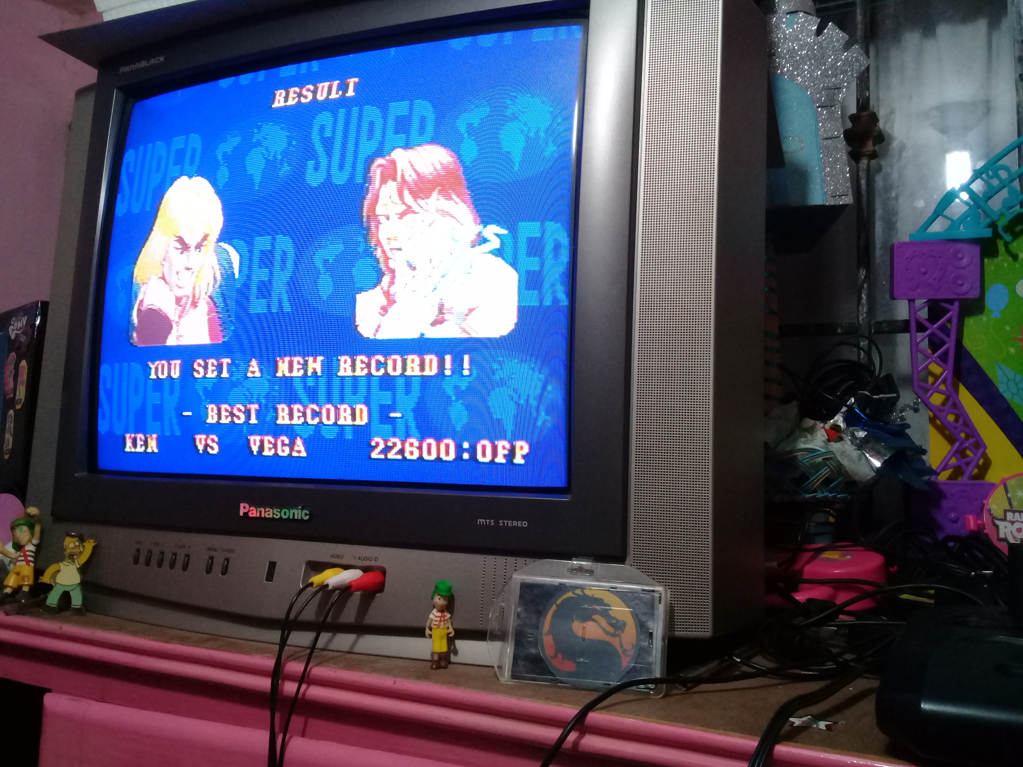 Super Street Fighter II: The New Challengers [Challenge / Score Challenge] 22,600 points