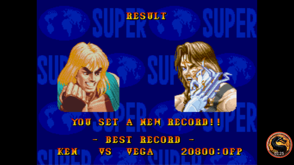 omargeddon: Super Street Fighter II: The New Challengers [Challenge / Score Challenge] (Sega Genesis / MegaDrive Emulated) 20,800 points on 2019-01-29 11:25:43