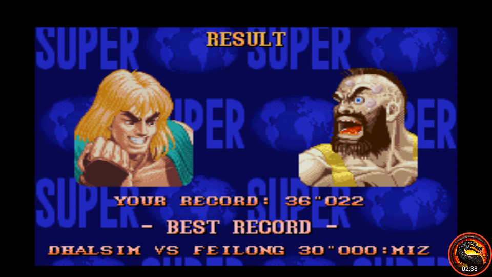 omargeddon: Super Street Fighter II: The New Challengers [Time Challenge] (SNES/Super Famicom Emulated) 0:00:36.022 points on 2020-08-23 15:54:53