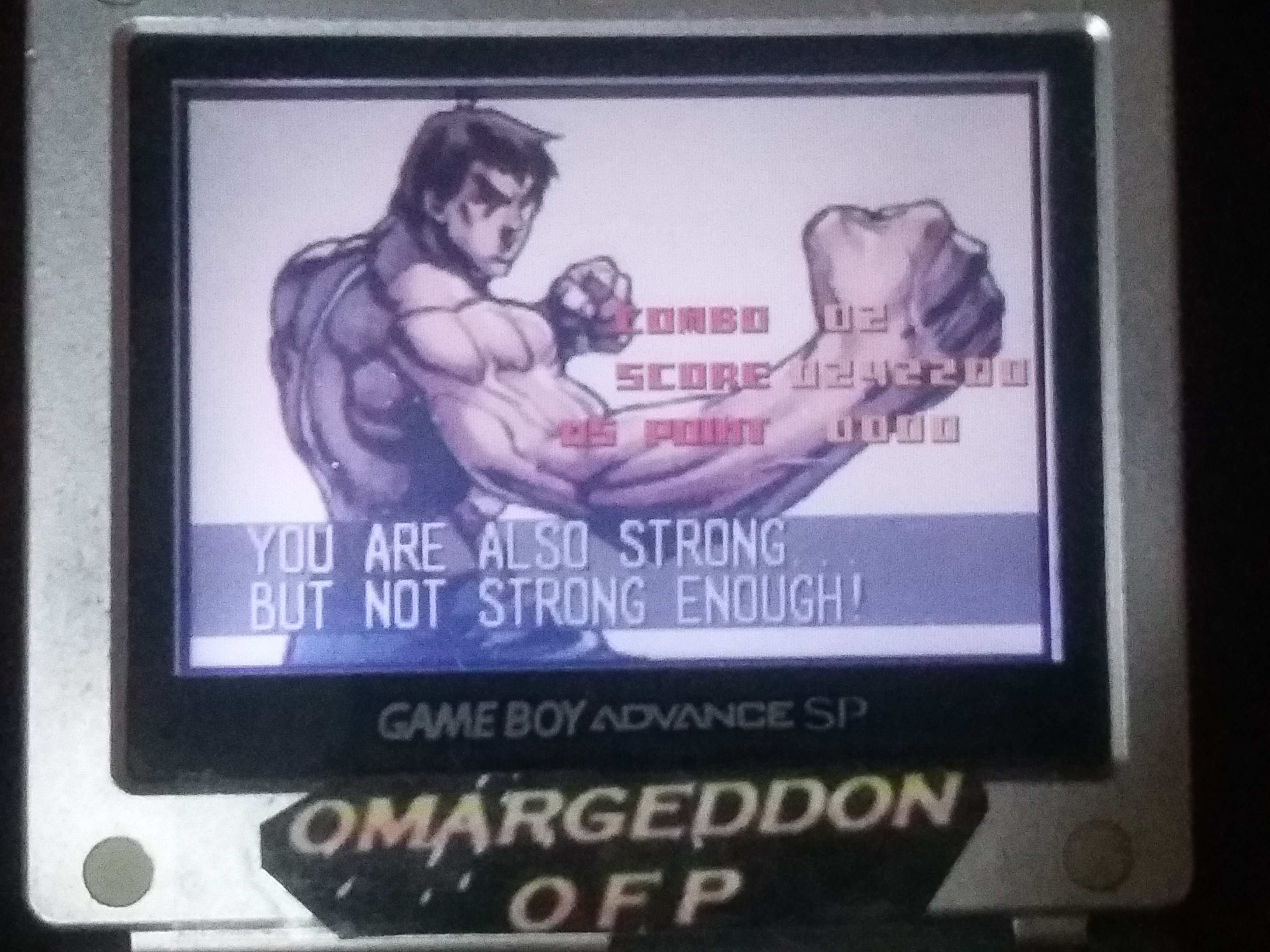 omargeddon: Super Street Fighter II Turbo Revival [Arcade Mode / Difficulty: Level 2] (GBA) 242,200 points on 2018-01-17 15:05:28