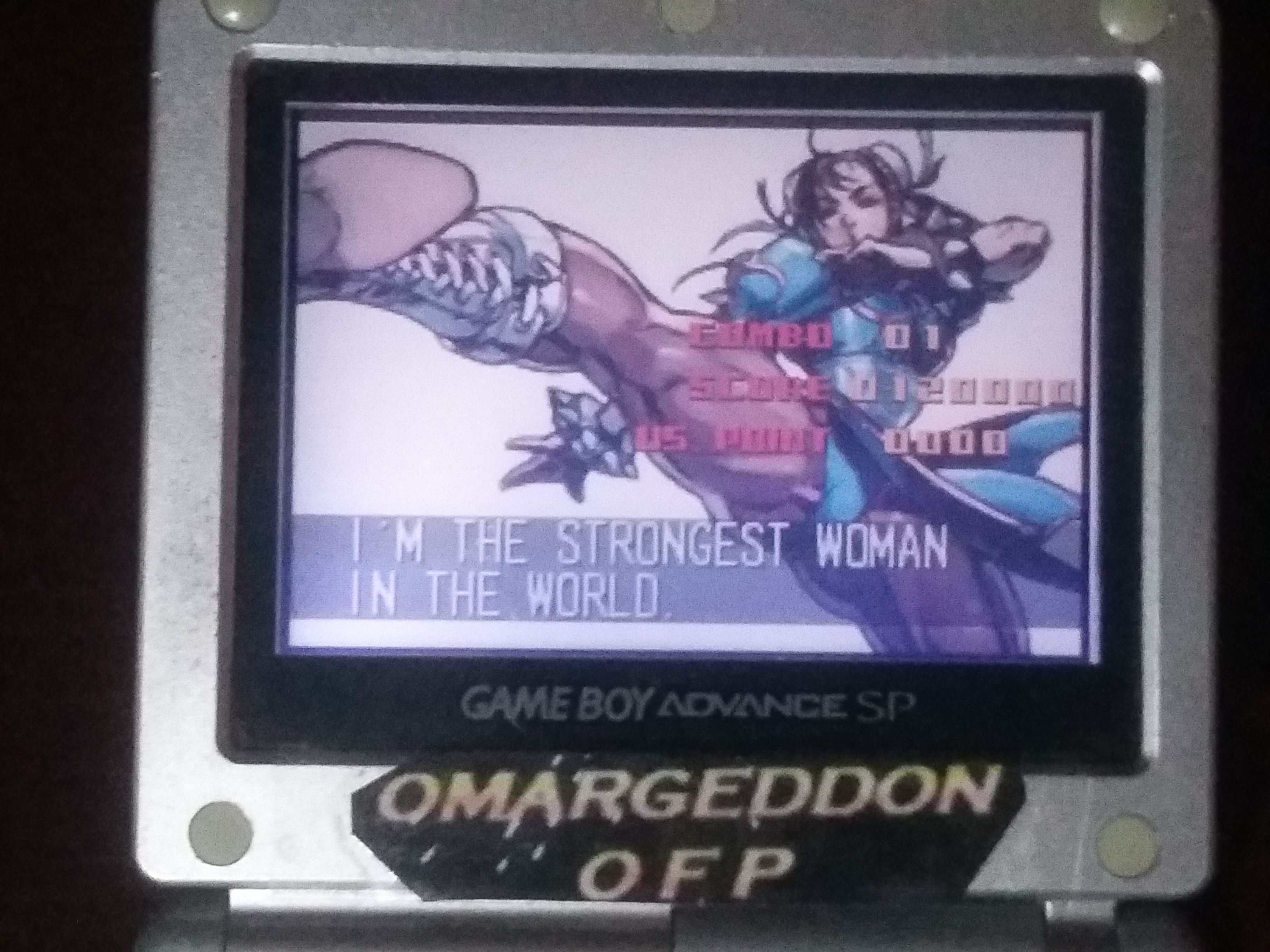 omargeddon: Super Street Fighter II Turbo Revival [Arcade Mode / Difficulty: Level 3] (GBA) 120,000 points on 2018-01-17 15:15:24