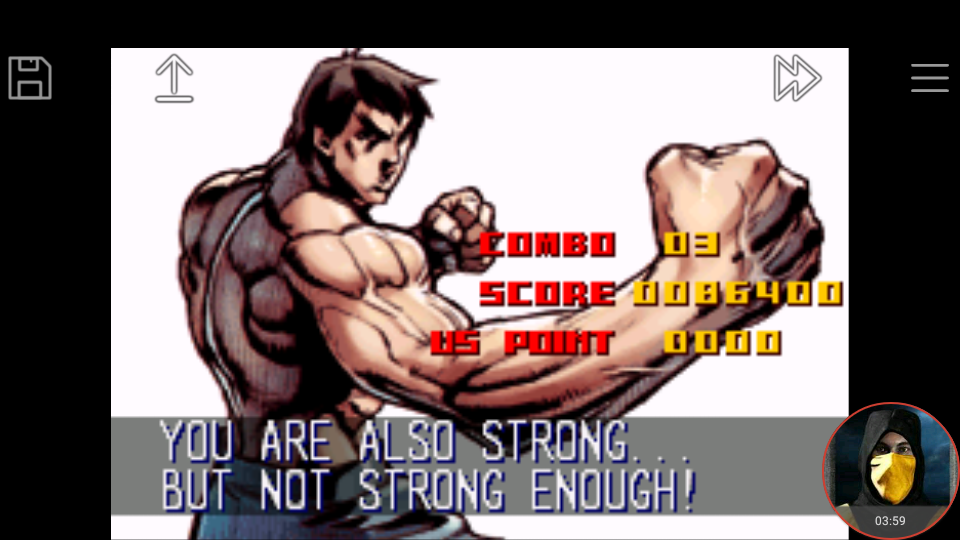 omargeddon: Super Street Fighter II Turbo Revival [Arcade Mode / Difficulty: Level 3] (GBA Emulated) 86,400 points on 2018-01-22 16:30:14
