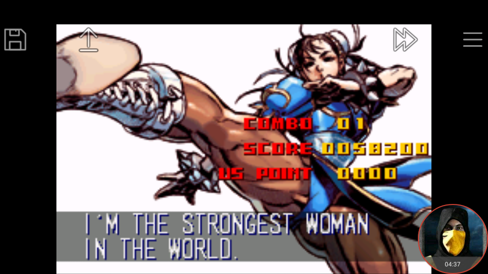 omargeddon: Super Street Fighter II Turbo Revival [Arcade Mode / Difficulty: Level 6] (GBA Emulated) 58,200 points on 2018-01-22 16:32:40