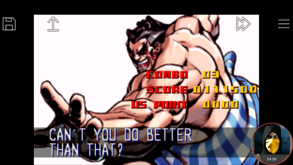 omargeddon: Super Street Fighter II Turbo Revival [Arcade Mode / Difficulty: Level 7] (GBA Emulated) 111,500 points on 2018-01-22 16:33:34