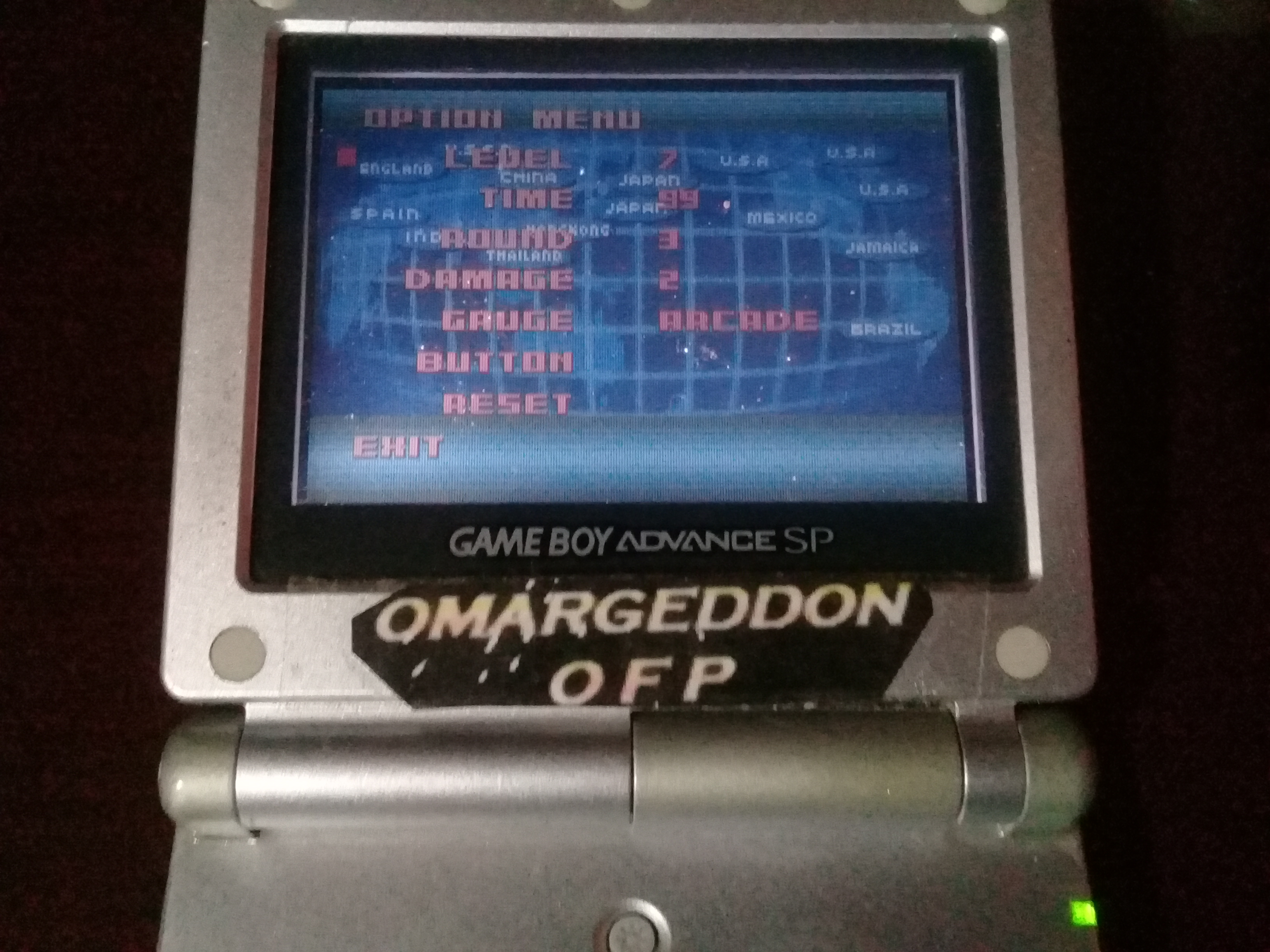 omargeddon: Super Street Fighter II Turbo Revival [Arcade Mode / Difficulty: Level 7] (GBA) 42,200 points on 2019-06-10 15:35:33