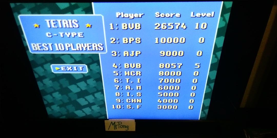 MrPong: Super Tetris 2 + Bombliss [C Type] [Level 0 Start] (SNES/Super Famicom Emulated) 26,574 points on 2019-04-04 17:13:38
