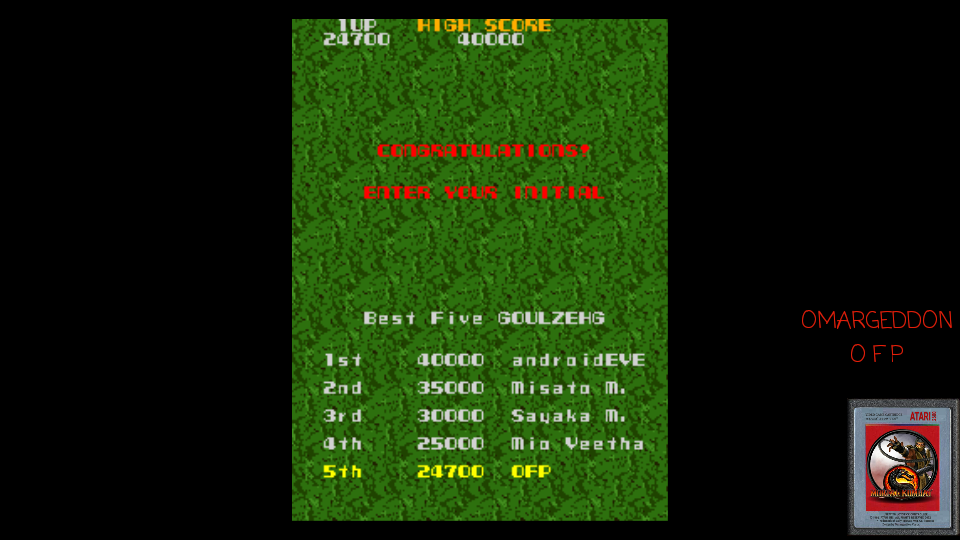 omargeddon: Super Xevious (Arcade Emulated / M.A.M.E.) 24,700 points on 2017-05-27 10:12:28