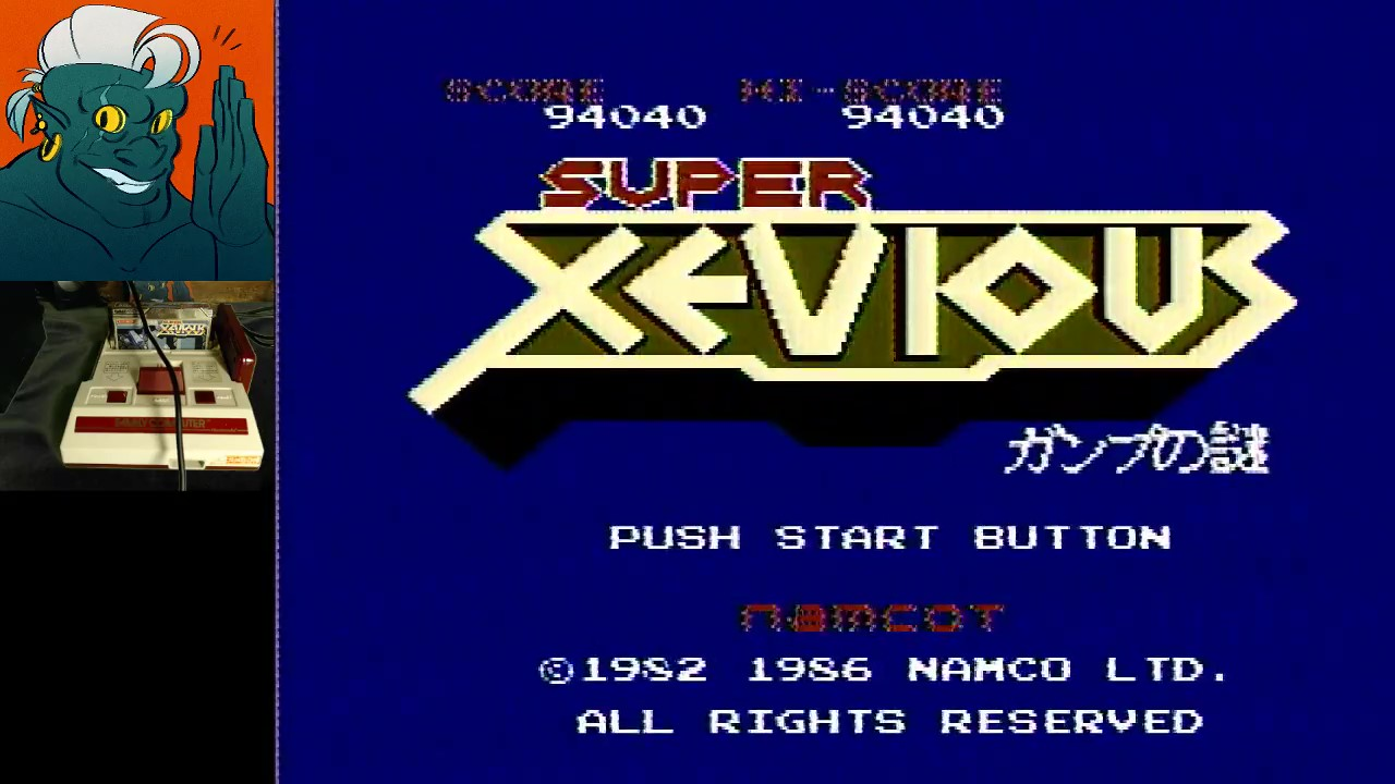 AwesomeOgre: Super Xevious (NES/Famicom) 94,040 points on 2019-04-28 03:55:40