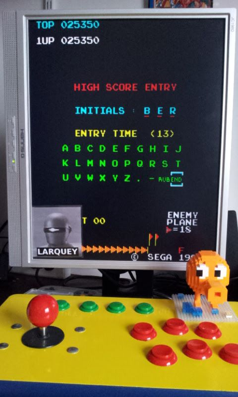 Larquey: Super Zaxxon (Arcade Emulated / M.A.M.E.) 25,350 points on 2017-02-13 08:19:02