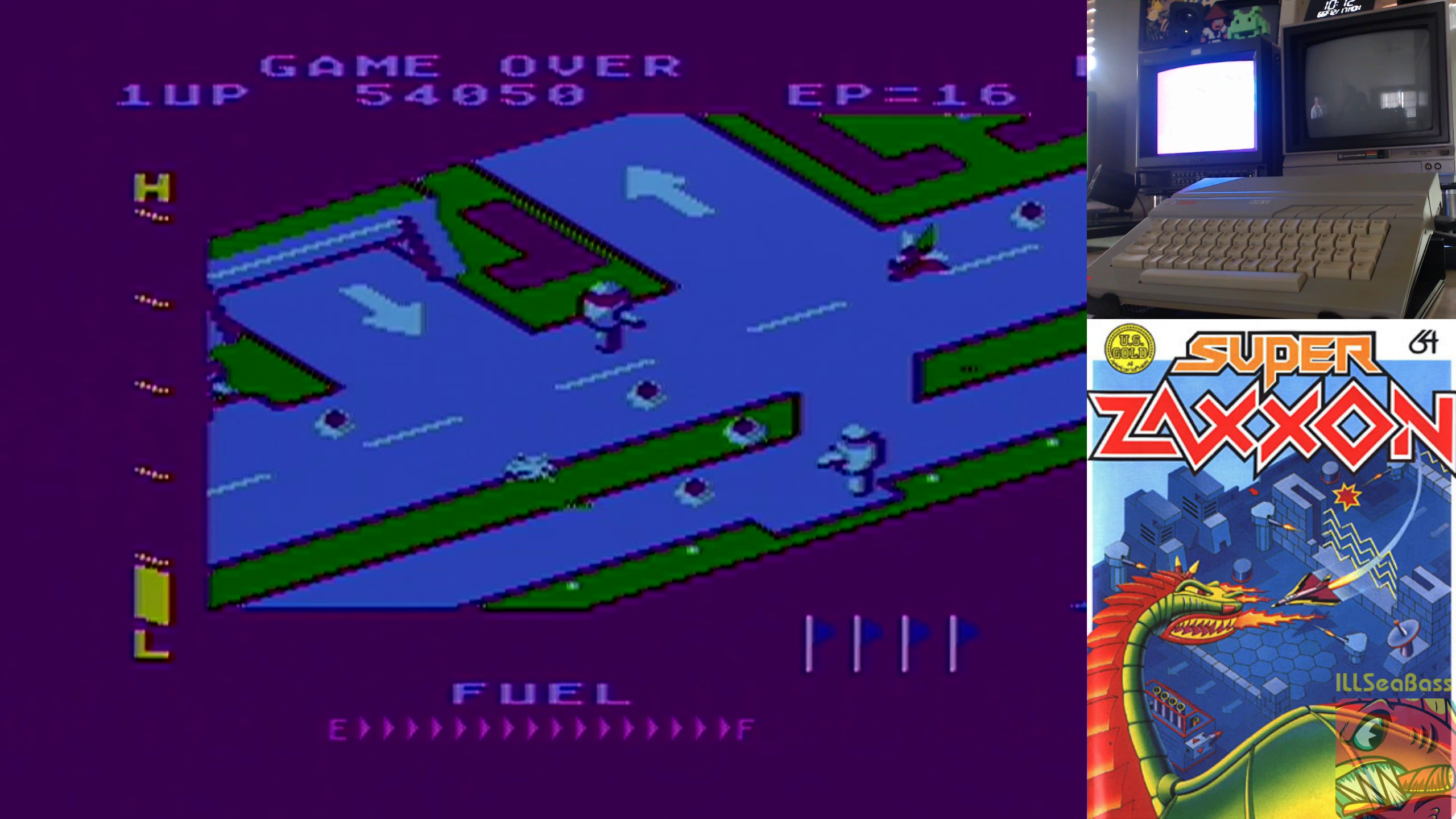 ILLSeaBass: Super Zaxxon (Atari 400/800/XL/XE) 54,050 points on 2018-12-17 14:37:00