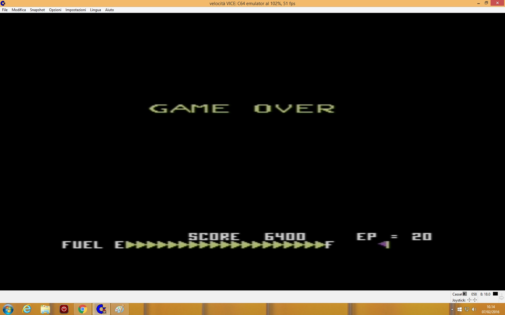 lenny2571: Super Zaxxon: US Gold (Commodore 64 Emulated) 6,400 points on 2016-02-07 03:15:03