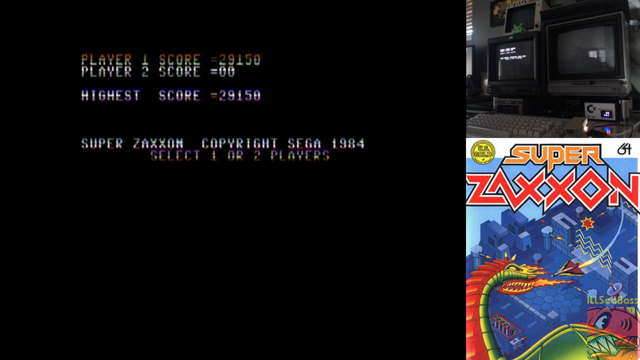 ILLSeaBass: Super Zaxxon: US Gold (Commodore 64) 29,150 points on 2018-11-07 10:34:04