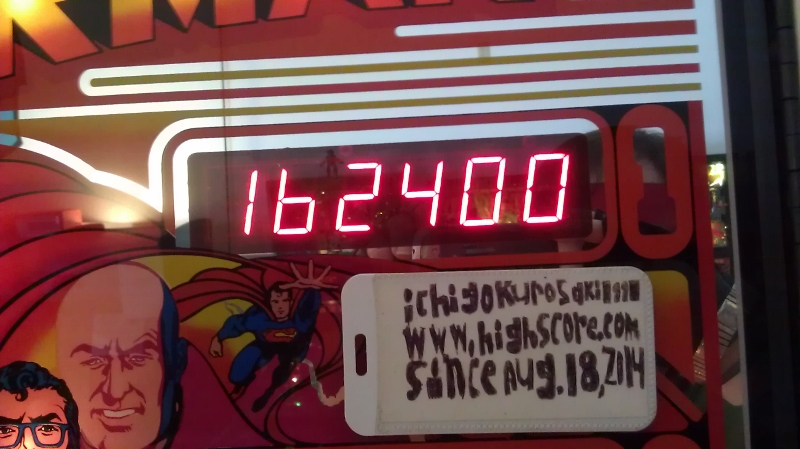 ichigokurosaki1991: Superman (Pinball: 3 Balls) 162,400 points on 2016-04-08 10:01:30