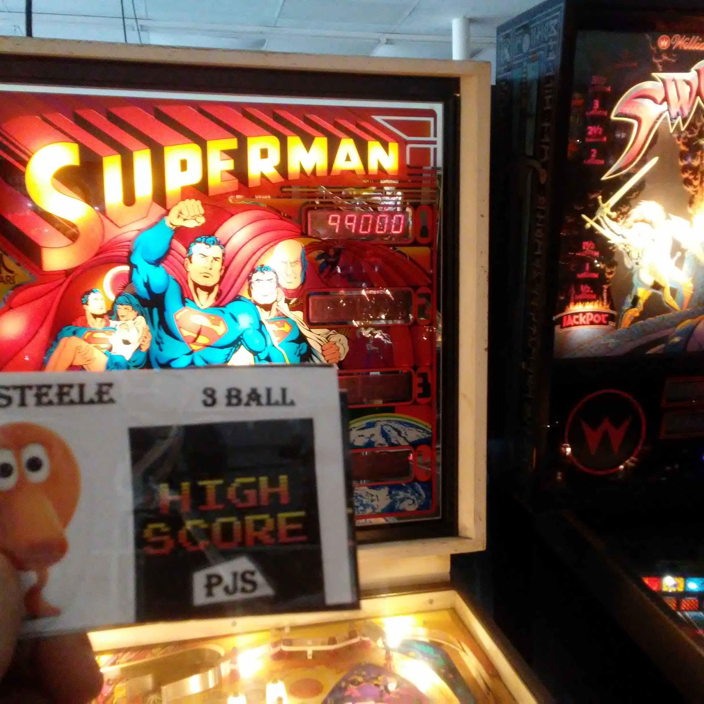 Pjsteele: Superman (Pinball: 3 Balls) 99,000 points on 2018-03-03 20:06:23