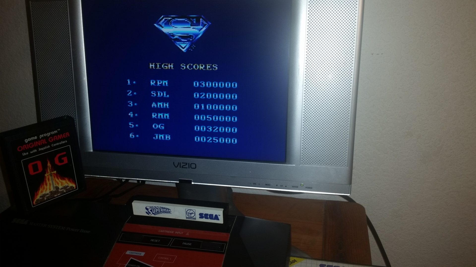 OriginalGamer: Superman (Sega Master System) 32,000 points on 2016-11-18 21:08:36