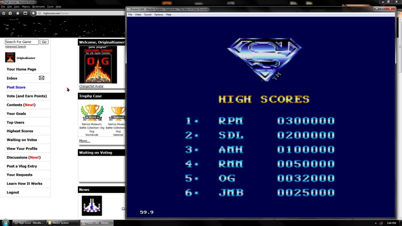 OriginalGamer: Superman (Sega Master System Emulated) 32,000 points on 2018-02-19 18:36:50