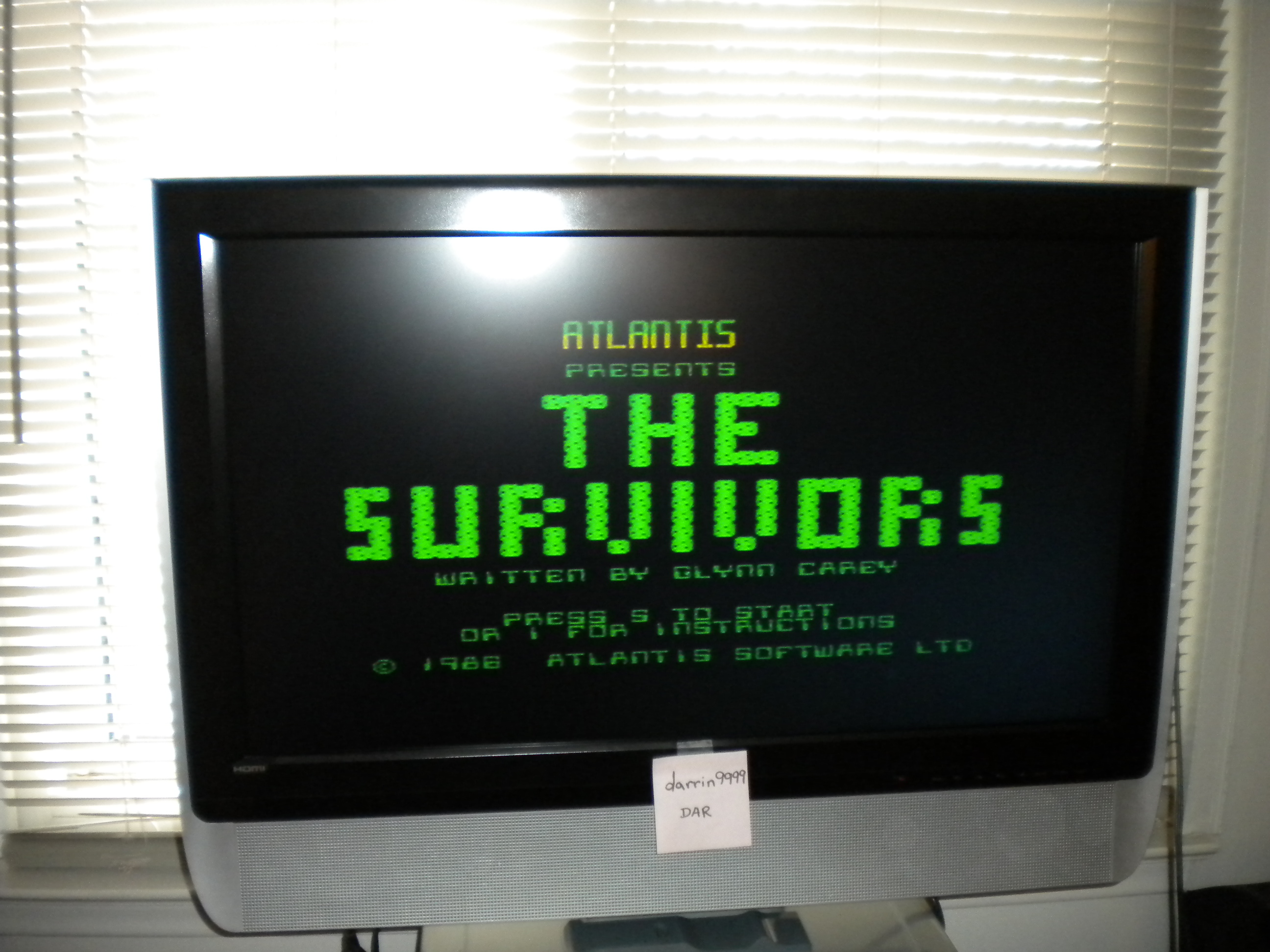 darrin9999: Survivors [Atlantis] (ZX Spectrum Emulated) 536 points on 2017-05-12 16:01:01