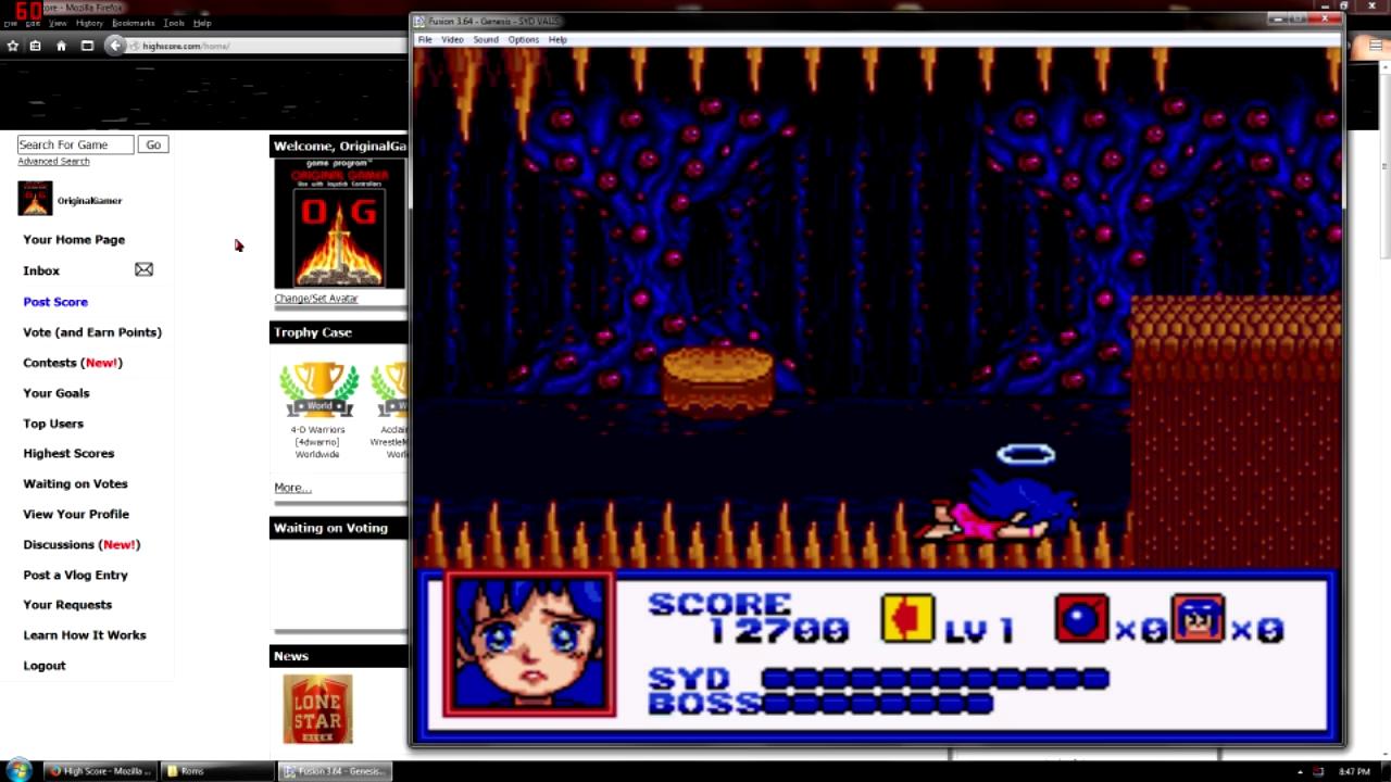 OriginalGamer: Syd of Valis (Sega Genesis / MegaDrive Emulated) 12,700 points on 2015-10-03 18:46:26
