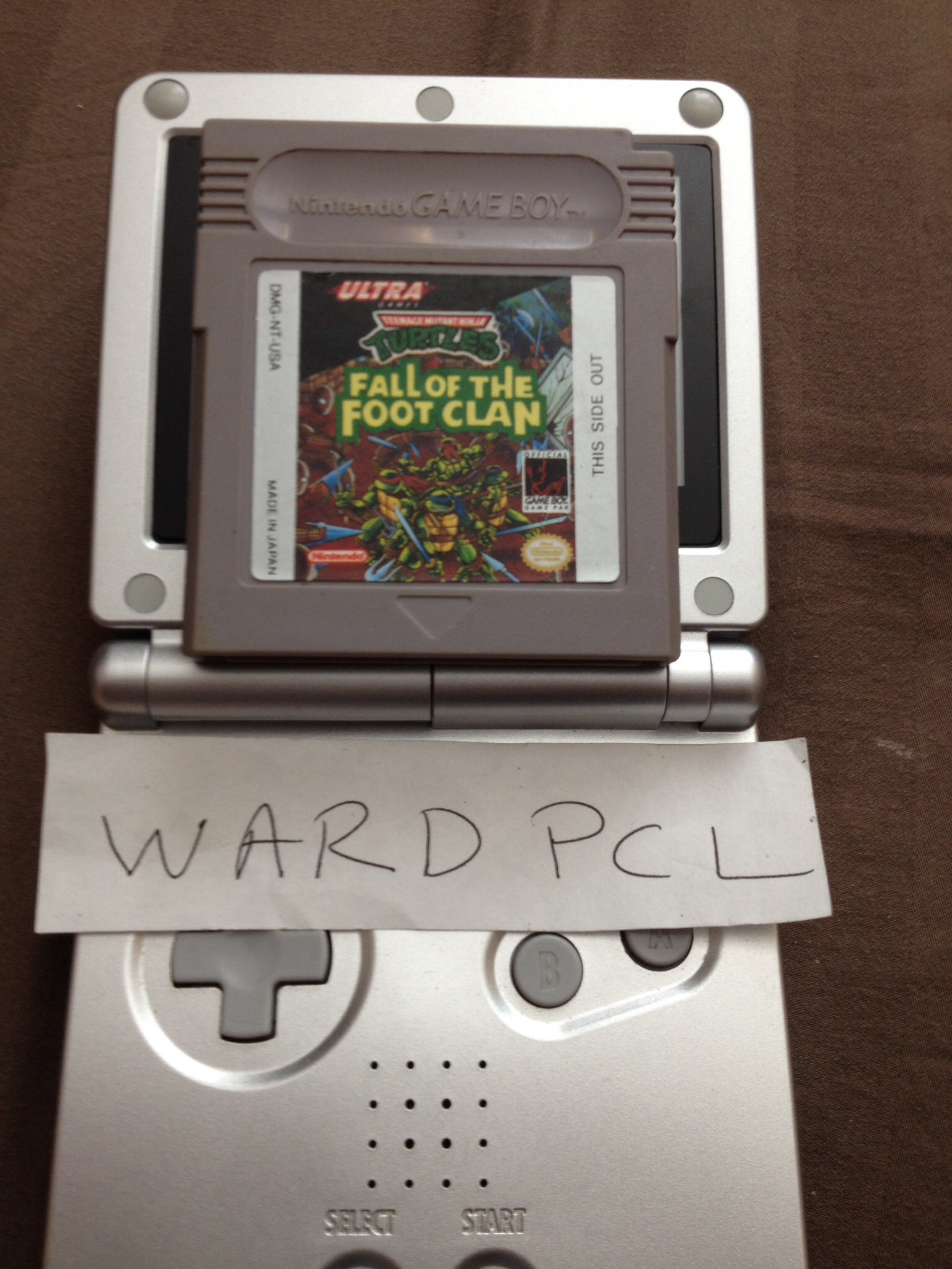 Wardpcl: TMNT: Fall of the Foot Clan (Game Boy) 25,330 points on 2015-07-15 17:15:32