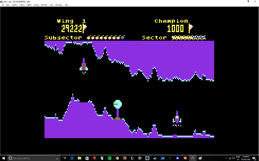 MikeDietrich: Tail of Beta Lyrae [Seven Ships] (Atari 400/800/XL/XE Emulated) 29,222 points on 2016-11-24 13:47:47
