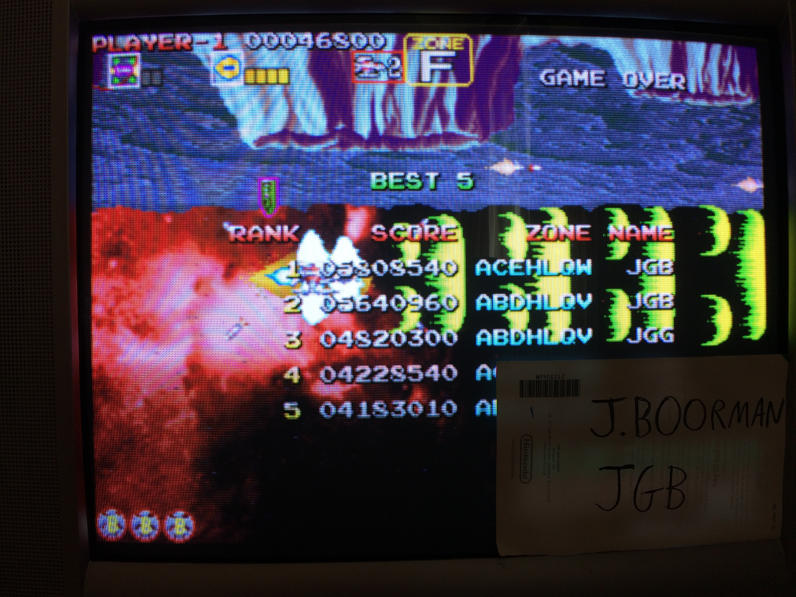 Taito Legends 2: Darius Gaiden [Medium] 5,808,540 points