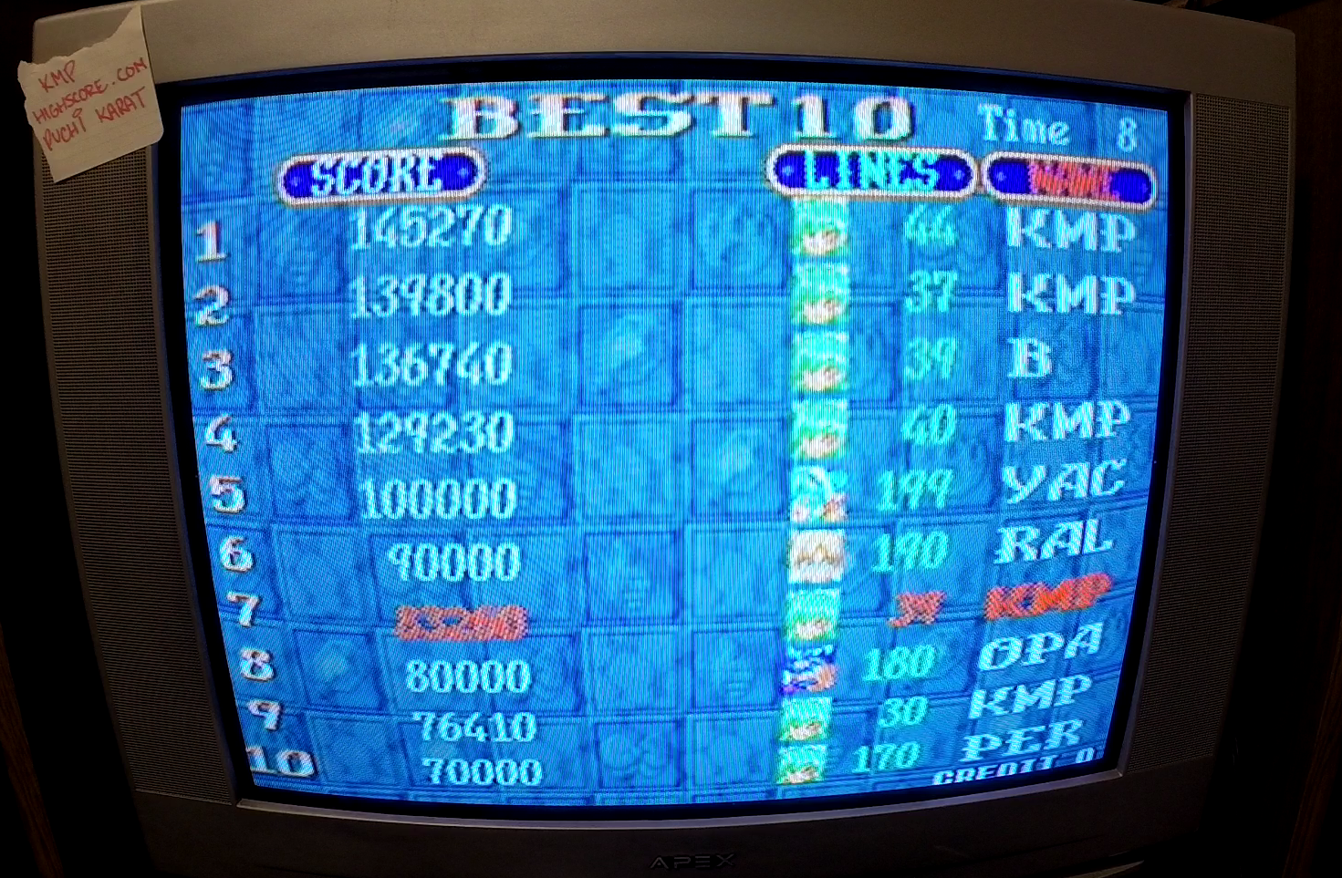 Taito Legends 2: Puchi Carat [Medium] 83,260 points