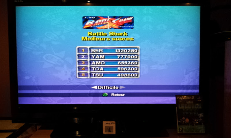Larquey: Taito Legends: Battle Shark [Hard] (Playstation 2) 1,320,280 points on 2018-01-23 12:04:44