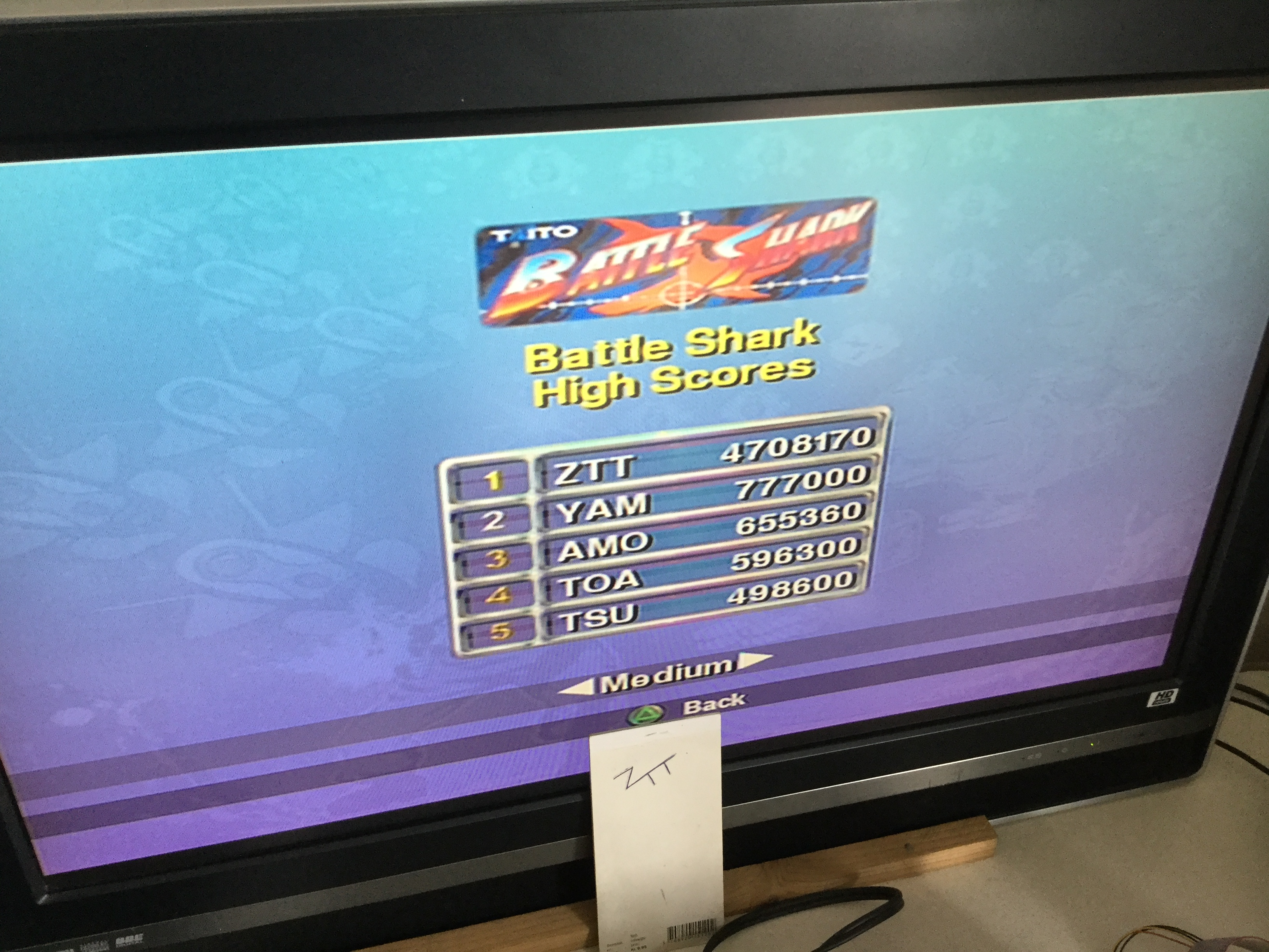 Frankie: Taito Legends: Battle Shark [Medium] (Playstation 2) 4,708,170 points on 2018-03-17 06:11:38