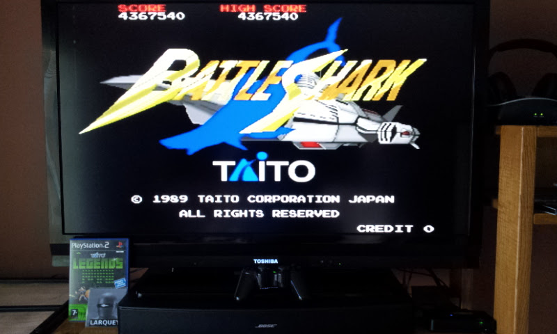 Larquey: Taito Legends: Battle Shark (Playstation 2) 4,367,540 points on 2017-03-25 12:45:31