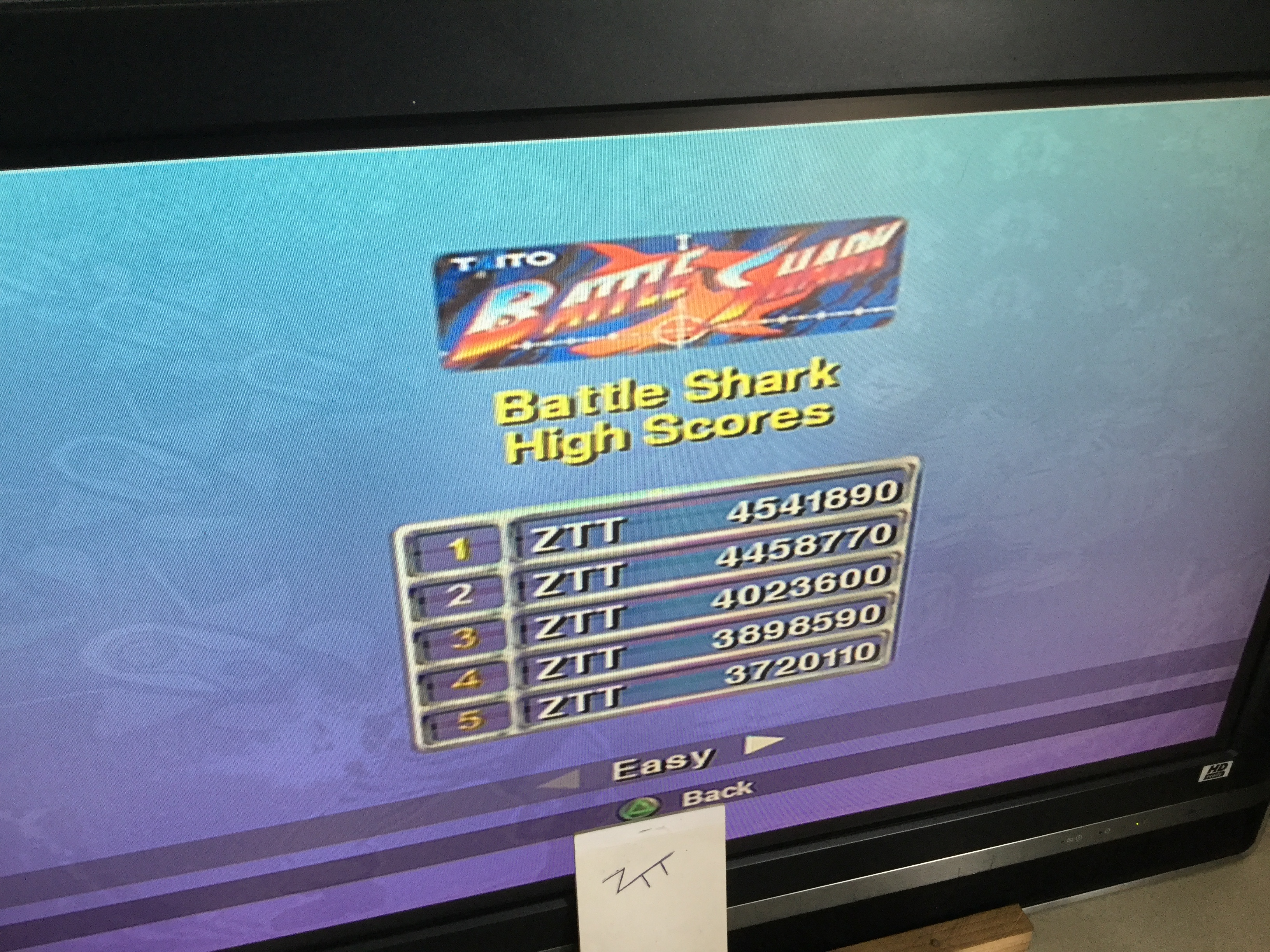 Frankie: Taito Legends: Battle Shark (Playstation 2) 4,541,890 points on 2018-03-17 06:09:33