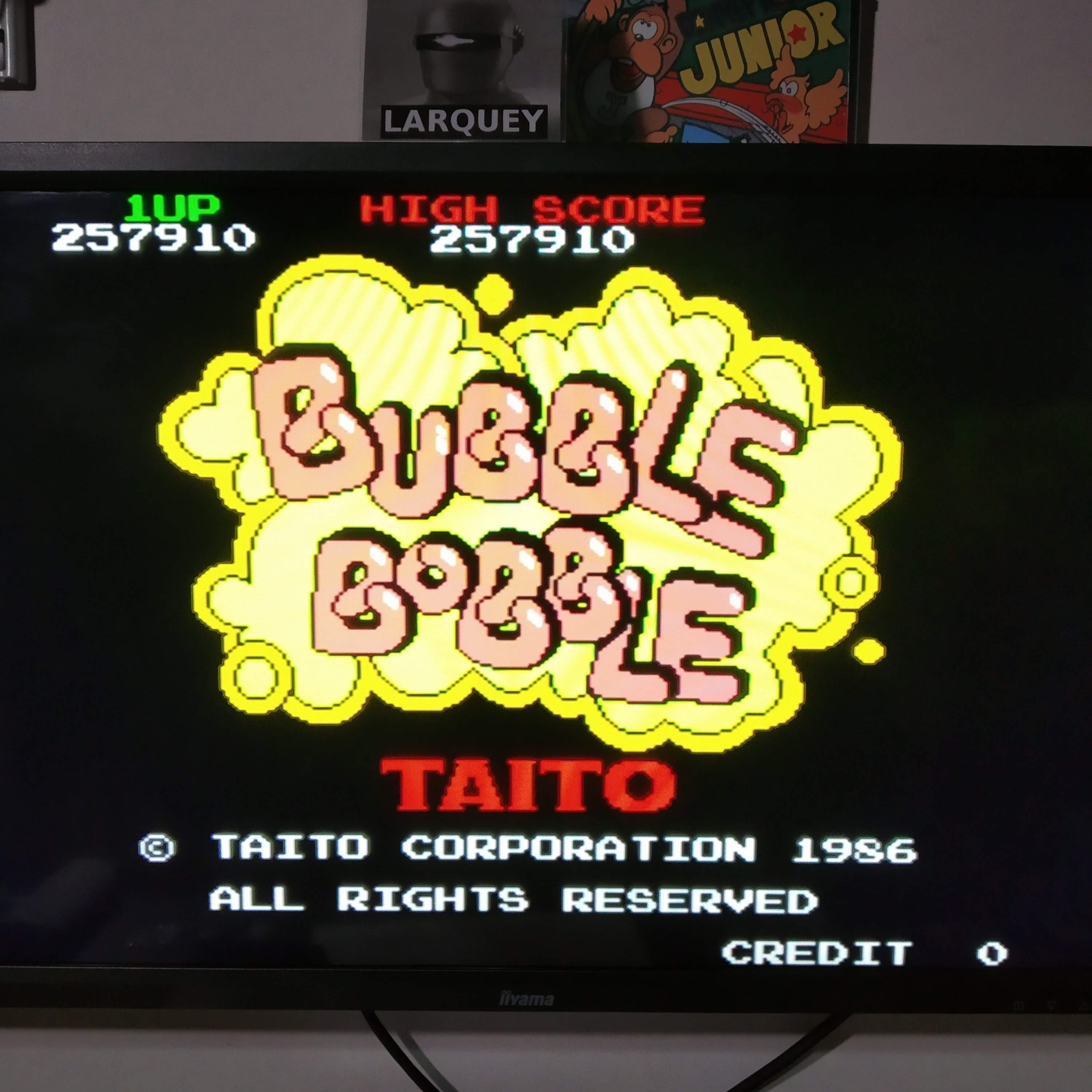 Larquey: Taito Legends: Bubble Bobble [Easy] (Playstation 2 Emulated) 257,910 points on 2020-08-08 10:46:29