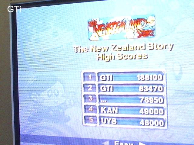 GTibel: Taito Legends: New Zealand Story [Easy] (Playstation 2) 188,100 points on 2017-09-05 04:09:22