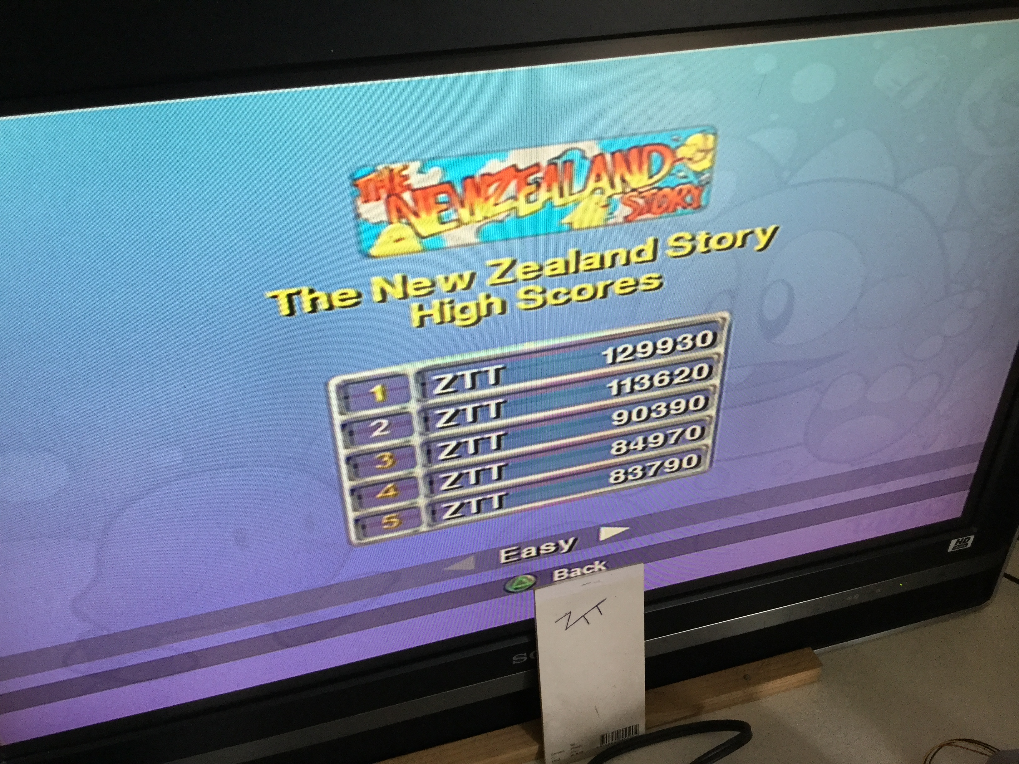 Frankie: Taito Legends: New Zealand Story [Easy] (Playstation 2) 129,930 points on 2018-03-24 05:42:27