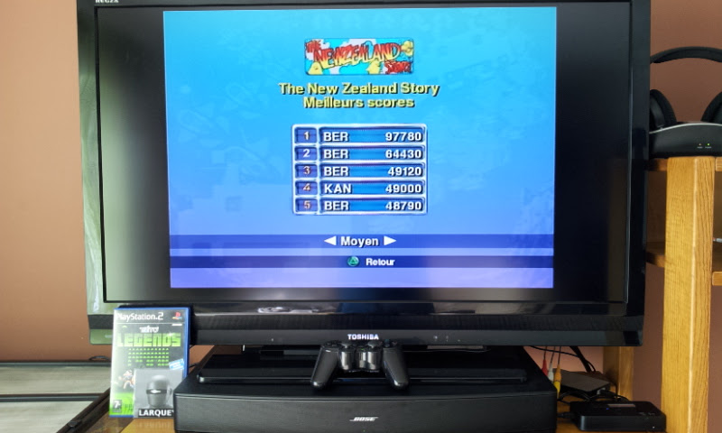 Larquey: Taito Legends: New Zealand Story [Medium] (Playstation 2) 97,780 points on 2018-01-23 12:13:51