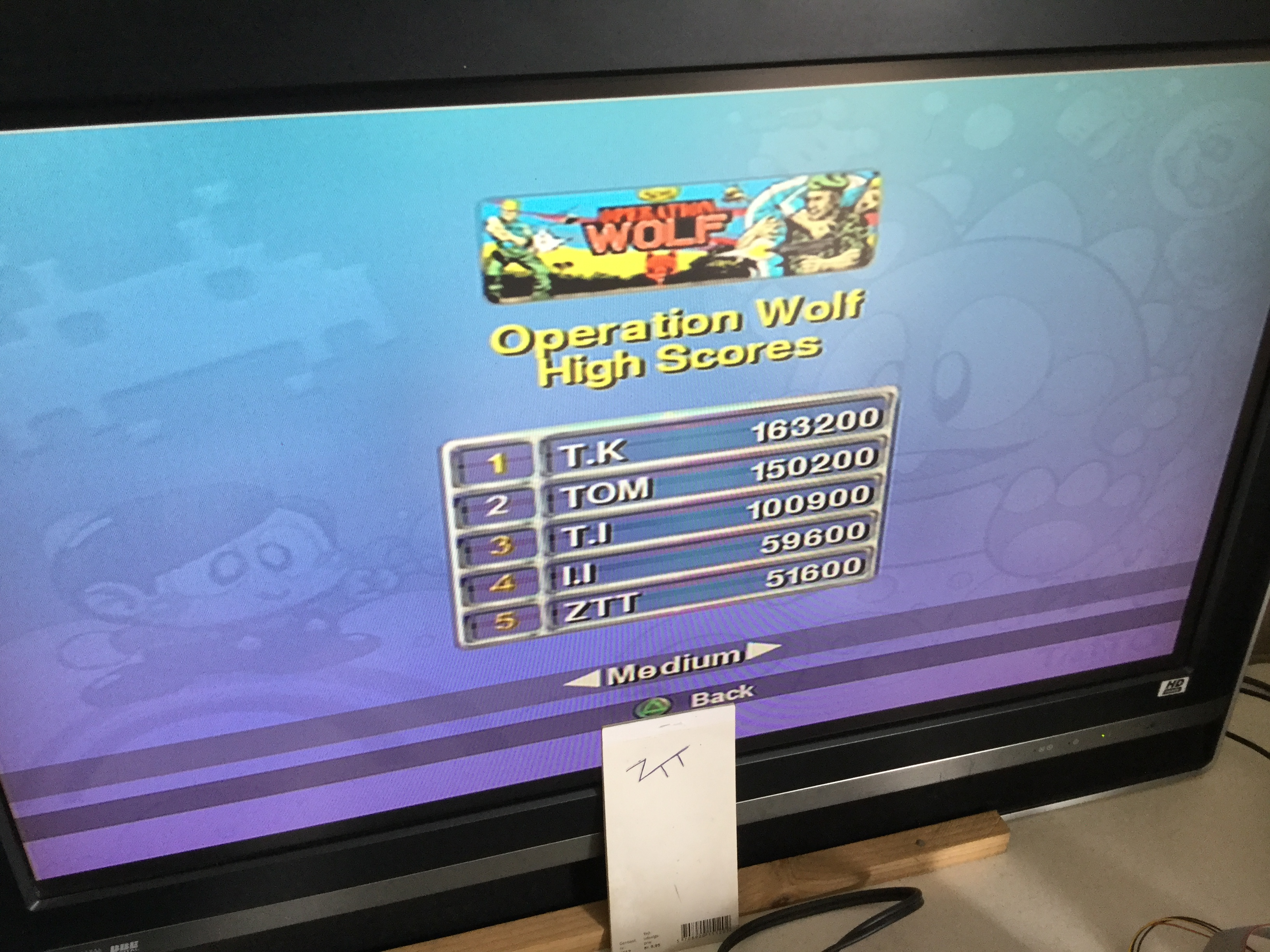 Frankie: Taito Legends: Operation Wolf [Medium] (Playstation 2) 51,600 points on 2018-03-25 07:52:58